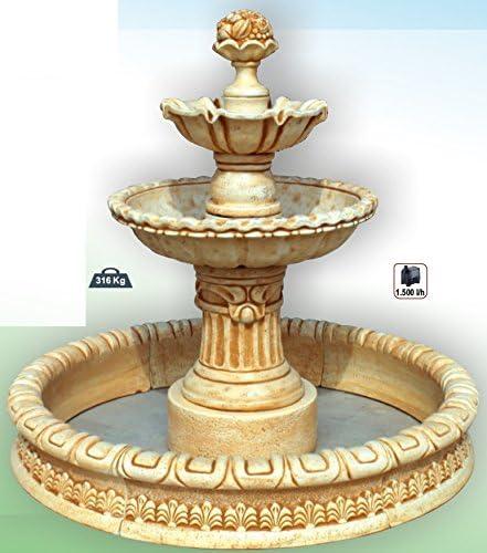 DEGARDEN Fuente Central Milán con Estanque hormigón-Piedra Exterior 137X140cm.: Amazon.es: Jardín
