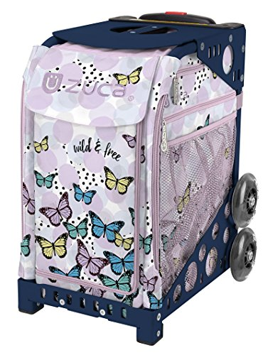 Zuca Wild & Free Sport Insert Bag and Navy Blue Frame with Flashing Wheels by ZUCA