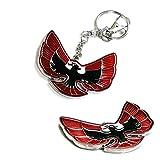 iJDMTOY (1) Eagle Formula Emblem Key Chain Fob Ring Keychain