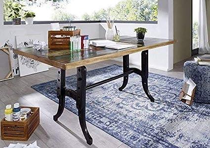 Tavolo Da Pranzo Industriale : Stile industriale legno antico laccato tavolo da pranzo in