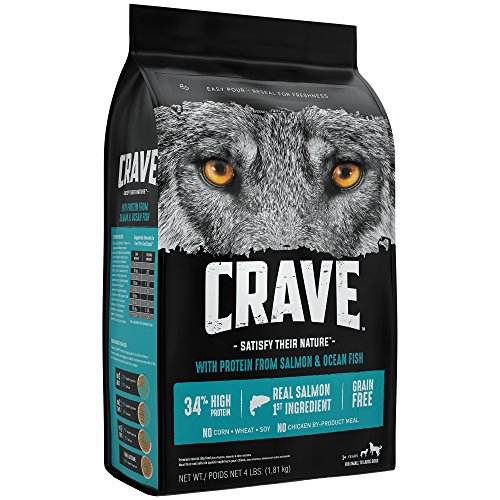 Crave Grain Free With Protein From Salmon And Ocean Fish Dry Adult Dog Food, 4 Pound Bag
