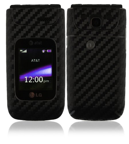 Skinomi TechSkin - LG A340 Screen Protector + Carbon Fiber Full Body Skin / Front & Back Premium HD Clear Film / Ultra Invisible and Anti Bubble Shield (Lg A340 Phone Case compare prices)