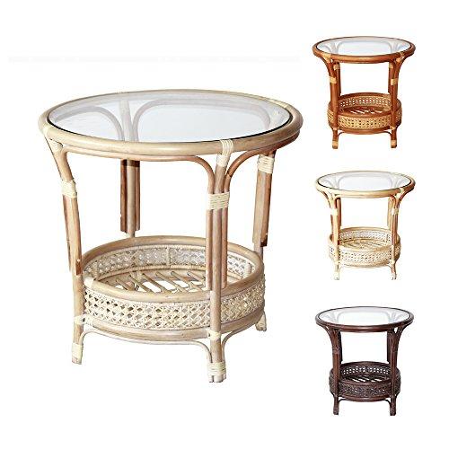 Round Wicker Coffee Table With Stools: Amazon.com: Pelangi Handmade Rattan Round Wicker Coffee