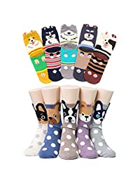 Women Socks Dog Cotton Animal Ankle Casual Funny Sock for Ladies Christmas Gift