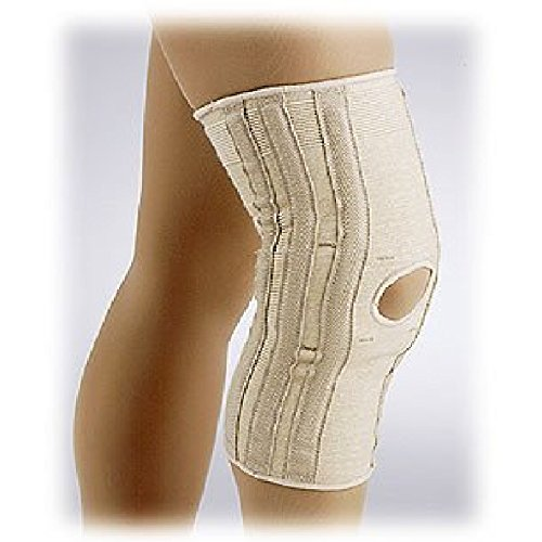 (FLA Hospital Grade Elastic Knee Support w/Spiral Stays & Condyle Pads Beige Small)