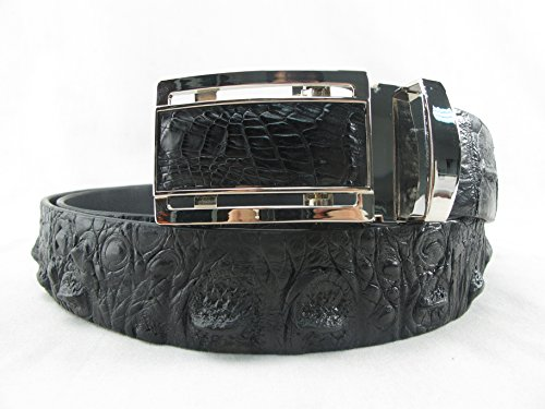 (PELGIO Genuine Crocodile Alligator Head Bump Skin Leather Belt 46