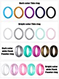 Hicarer 20 Pieces Silicone Wedding Ring for
