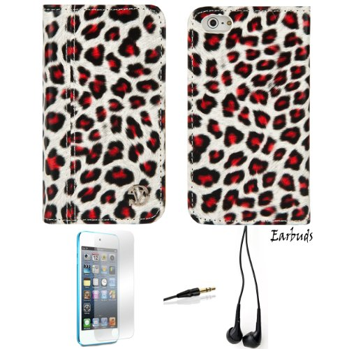 MARY Leopard Wallet Design Smart Stand Case For Apple iPhone