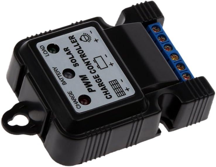 Dolity 6V 12V 10A Regulador de Solar Cargador Controlador Detector Magn/ético Panel Bater/ía Digital