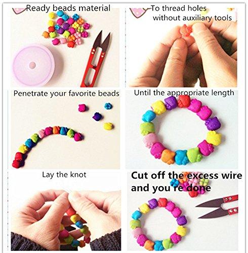 Liangzhou(TM) Assorted Colorful Ocean Bead Set for Children's DIY Bracelets Necklace Keychains 24 Grid Multi-Mix Colors