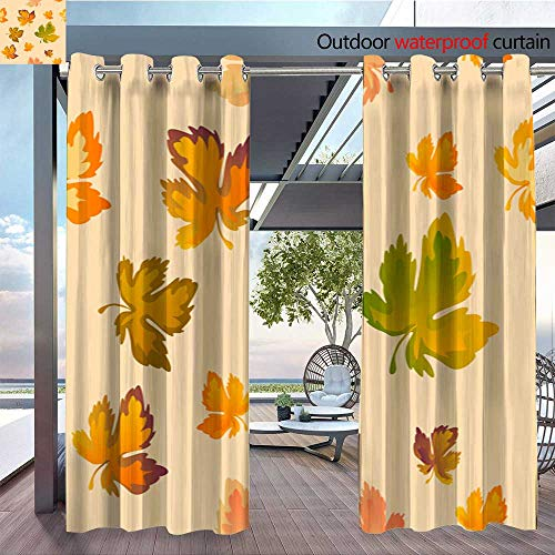 - QianHe Indoor/Outdoor Single Panel Print Window Curtain Autumn-Leaves-Seamless-Pattern-Vector-Background-Red-Yellow-and-Green-Maple-Leaf-for-The-Design-of-Wallpaper-Fabric-Decoration-Material.jpg SIL