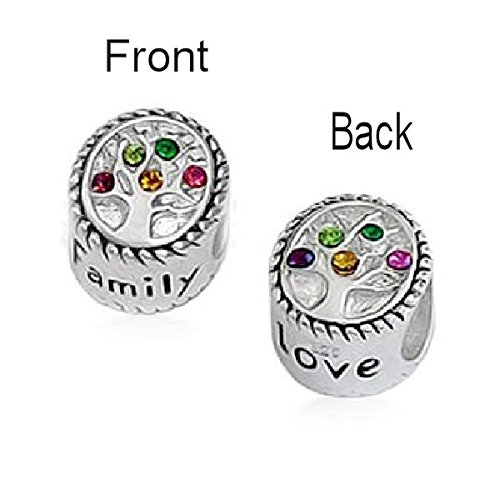 Queenberry Sterling Silver Family Love Tree Of Life Bead Charm For European Charm Bracelets by Queenberry (Image #2)