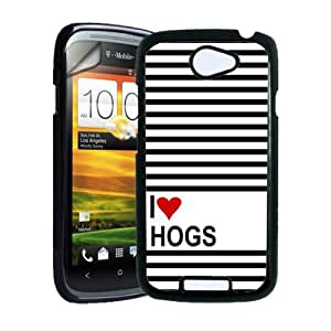 Love Heart Hogs HTC One S Case - Fits HTC One S