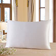 Townssilk Both Side 100% 19mm Silk Pillowcase King Size Pillow Case Cover envelope closure White