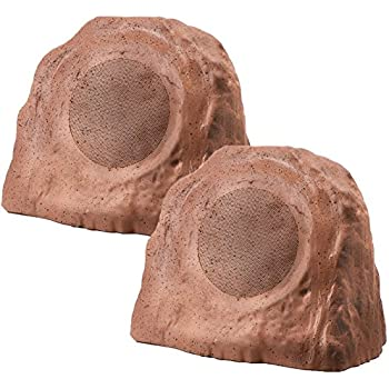 RX640 6.5-Inch 150W 2-Way Outdoor Weather-Resistant Rock Speaker - OSD Audio - (Pair, Brown)