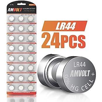 Amazon.com: Ram-Pro AG13 - Pilas de botón para relojes (pila ...