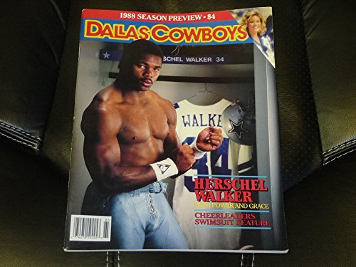 1988 DALLAS COWBOYS PREVIEW MAGAZINE HERSCHEL WALKER COVER CHEERLEADERS - Swimsuits Dallas