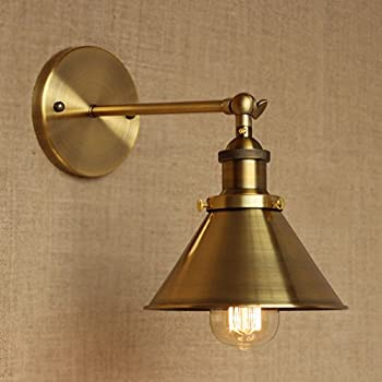 Adjustable Brass Finish 1 Light Wall Sconce - LITFAD 7