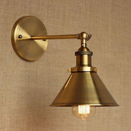 Adjustable Brass Finish 1 Light Wall Sconce - LITFAD 7