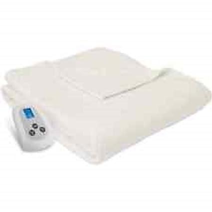 Serta forro polar manta con controlador digital programable, reina, Natural