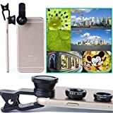 SOURBAN 3 in1 Camera Lens for iPhone 5s 6 6s 7 Plus Samsung HTC Wide Angle + Macro Camera
