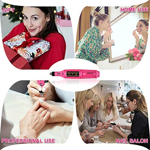 Electric Nail Drill, Acrylic Nail Tools, Professional Portable Electric Nail Kit, Pen Shape Finger Toe Nail Care, Electric Nail Polishing Machine, Nail File Nail Tips Manicure Pedicure Machine set