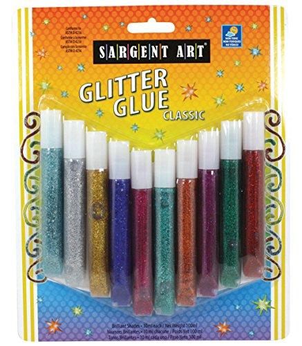 (Sargent Art 22-1894 10ct Washable Glitter Glue Tubes)