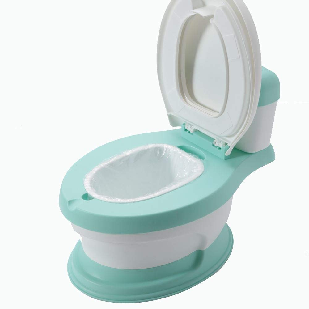 Babyhugs© - 3 in 1 Cute Duck Design Children Kids Toddler Potty Toilet Training Seat Step Stool with Anti-Slip Feet and Splash Guard - Blue (Frog Urinal - Green)