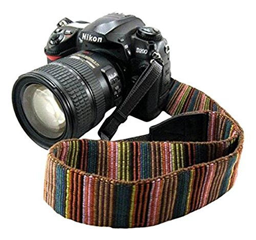 Eorefo cai-neck strap Camera Strap Bohemia Shoulder Neck Universal Camcorder Belt Strap for All DSLR Camera Nikon Canon Sony Olympus Samsung Pentax Fujifilm - Canon Strap Wide