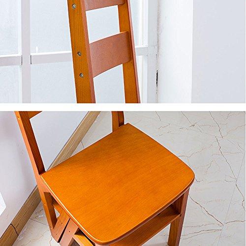 MEI XU Muebles Escalera Plegable Multifuncional de Madera ...