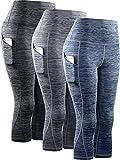 Neleus Women's 3 Pack Tummy Control High Waist Yoga...