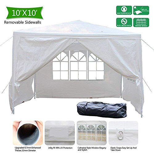 Cheap VINGLI 10′ x 10′ Outdoor Gazebo Canopy Tent, Portable Upgraded Party Wedding BBQ Pavilion Canopy Catering Events Tent With 4 Removable Sidewalls