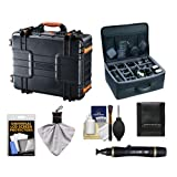 Vanguard Supreme 46F Heavy Duty Waterproof, Airtight & Dustproof Professional Hard Case with Foam Interior + Divider Bag for Canon, Nikon, Olympus, Panasonic, Fuji & Sony Alpha Cameras