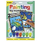 "Royal Brush 422094 My First Paint By Number Kit 8.75 by 11.375"" 2 Pack, Sea Turtle and Fish"