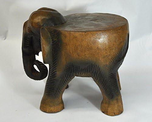 Wilai Table Eléphant en Bois, guéridon, décoration