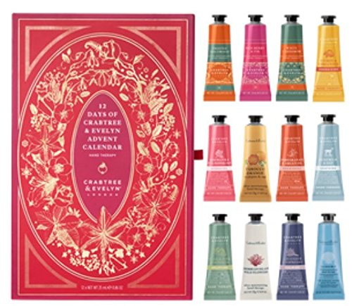 Crabtree & Evelyn Hand Therapy 12 Piece Advent Calendar Set 25mg x 12 Gift Set (Evelyn Gift Sets)