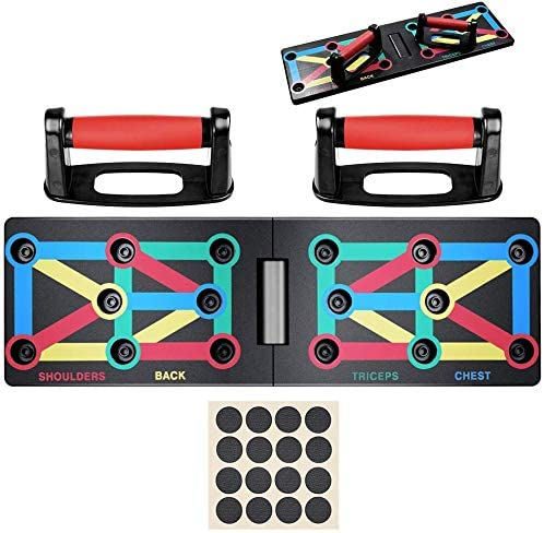 9 in 1 Push Up Board Home Muscle Builder Liegestützgriffe Steh Gestell Board DHL