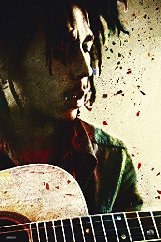 Pyramid America Bob Marley Acoustic Guitar Music Poster 12x18 inch