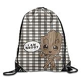 MissMr I Am Groot 2 Belt Sports Backpack,Fashion Trend, Polyester Sports Bag,Net Red Part,Men's Handbag,Ladies,Teenager,Adult,Outdoor Work,Office,Lunch Box For Sale