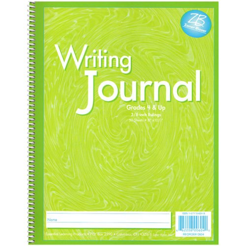 Zaner-Bloser Writing Journal Grade 4 and Up, Liquid Green (0604) - Student Writing Journal
