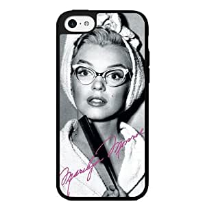 Pretty Black, White and Hot Pink Marilyn Monroe in Cat Rimmed Glasses Hard Snap on Phone Case (iPhone 5c)
