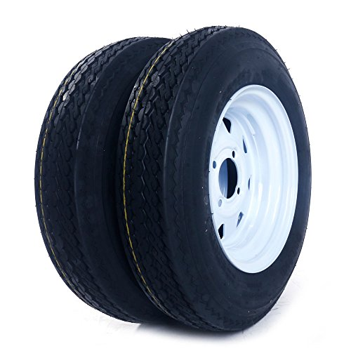 2 Bias Trailer Tires & Rims 5.30-12 LRC on 12