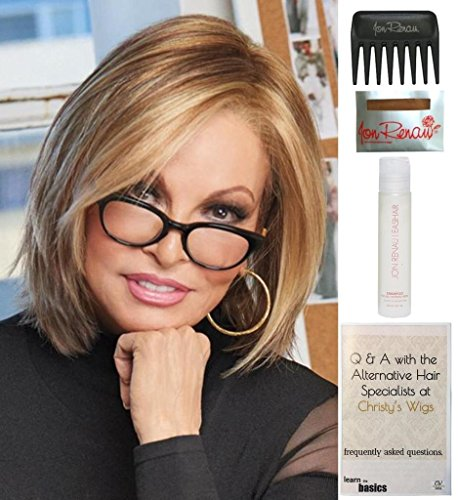 Play it Straight Wig by Raquel Welch, 15 Page Christy's Wigs Q & A Booklet, 2oz Travel Size Wig Shampoo, Wig Cap & Wide Tooth Comb Color: - Cool Wear Tones For To Skin Colors