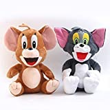 Smart Buy Tom And Jerry Plush Figure Imported Soft Toy Set of 2 - 22 Cms for Kids- Multicolor