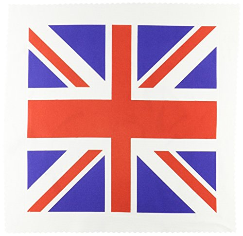 3dRose qs_62560_5 Union Jack Old British Naval Flag Quilt Square, 14 by 14-Inch