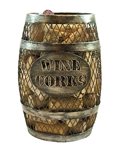 Theop Wine Barrel Shaped Wine Cork Holder (Wine Cork Cage)