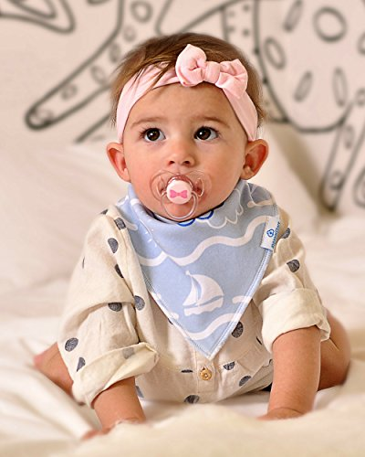 Baby Boy Bandana Drool Bibs - Set of 6 Cute Designs Extra-Soft Organic Cotton Bib for Delicate Skin, Perfect for Teething, Drooling, Breast Feeding, Burp & Spit-Up Messes, Outfit Accessory by maxamStars (Image #4)
