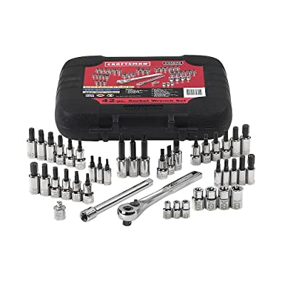 CRAFTSMAN 9-34845 42 piece 1/4 and 3/8-inch Drive Bit and Torx Bit Socket Wrench Set