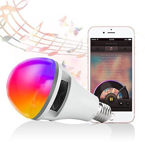 Bluetooth Smart LED Light Bulb -APP Controlled Sunrise Wake Up Lights-10Watt Dimmable Color Changing Music Light Bulb