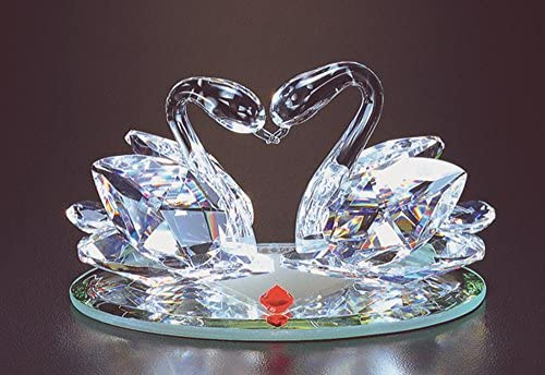 Crystal World Love Swans